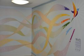 Direct Printed Wall Art for Bury Hospice GJ Plastics