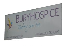Shop signs and Internal signs for Bury Hospice GJ Plastics