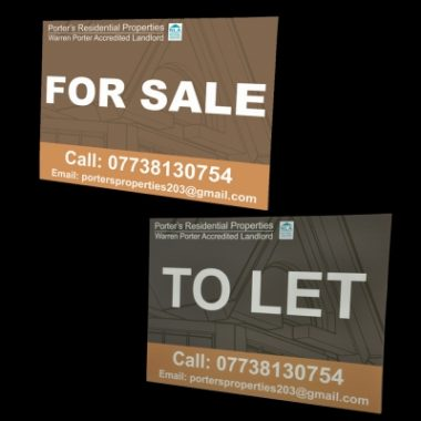 Correx Estate Boards, Printed Property Signs