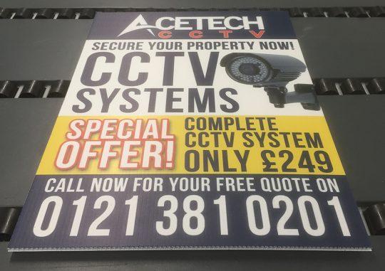 Printed Correx Signs, CCTV Signs