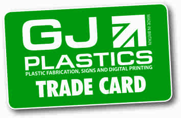 600mm By 400mm Sign Boards GJ Plastics