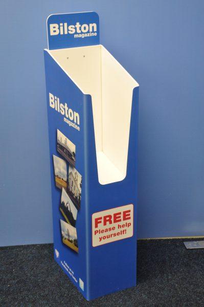 Printed Brochure Dump bins GJ Plastics