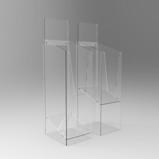 Perspex® Acrylic Magazine Dump bins GJ Plastics