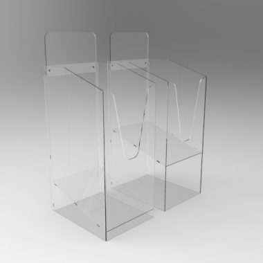 Newspaper Dump bins in Perspex Acrylic