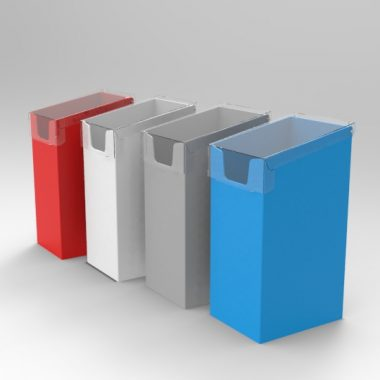 Static newspaper Dump bin with lid