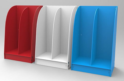 Bulk Brochure dispensers double A5 GJ Plastics