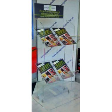 Double Acrylic Brochure Stand