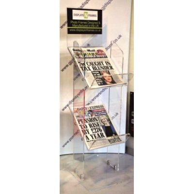 2 Tier Acrylic News Stand