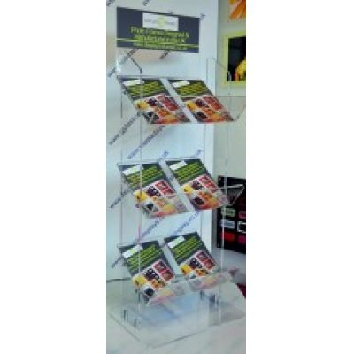 3 Tier Double Acrylic Magazine Stand