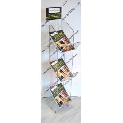 3 Tier Acrylic Magazine Stand
