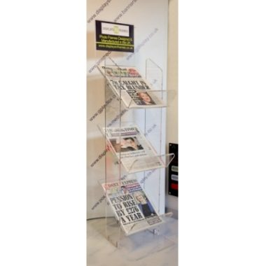 Perspex Newstand, Acrylic Newspaper Holder