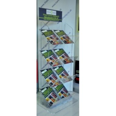 4 Tier Double Perspex Magazine Stand