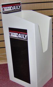 Tabloid Polypropylene Newspaper Dump bins GJ Plastics