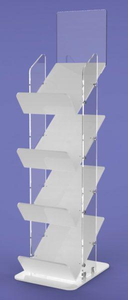 Super Tough Newspaper Stand four tier GJ Plastics