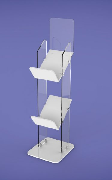 Super Tough Magazine Stands two Shelf GJ Plastics