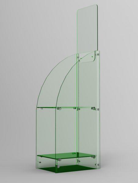 Perspex® Acrylic Glass Look A4 Brochure Stand GJ Plastics