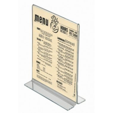 A4 Acrylic Menu Holder, Double Sided Perspex Poster Holder