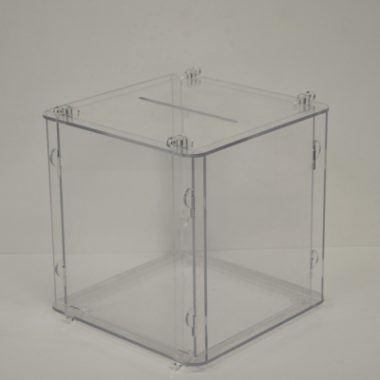 Flat Pack Suggestion Box, Perspex Business Card Box