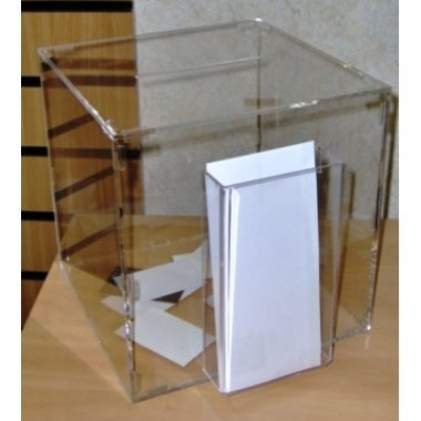 Competition Box with Trifold Leaflet Holder