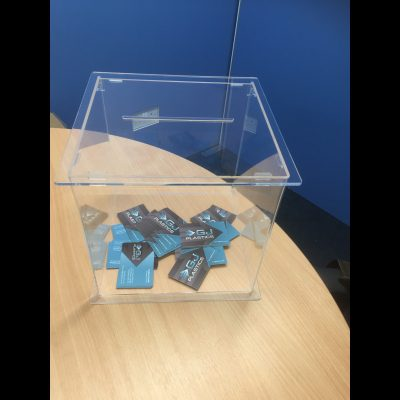 Perspex Suggestion Box, Acrylic Competition Boxes