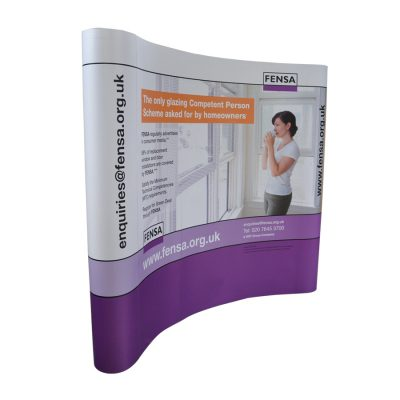 Curved Exhibition Stands 4x3 GJ Plastics
