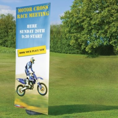 Blizzard Outdoor Pull Up Banner Stand
