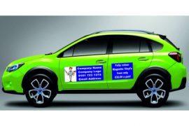 Magnetic Van Signs, Car Signage