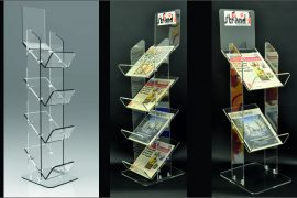 Newstand Tabloid, Perspex Acrylic Stand