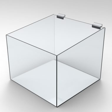 Perspex Acrylic product bin for slatwall