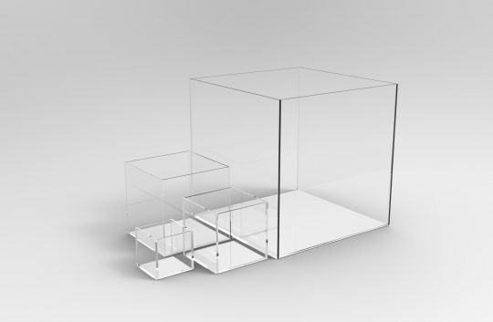 Five mm Perspex Acrylic Display Cubes
