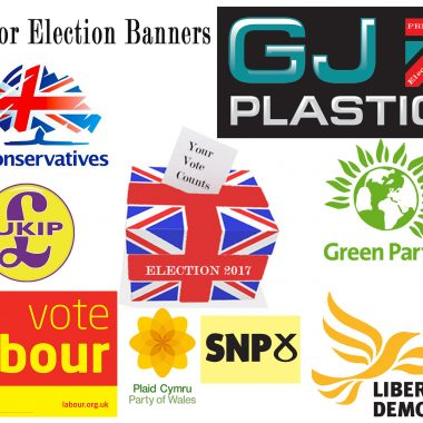 Printed General Election Outdoor Banners