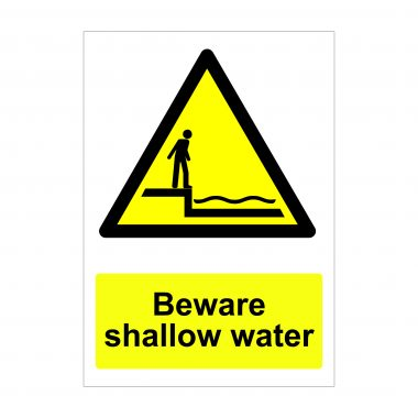 Beware Shallow Water Sign, Correx Signs