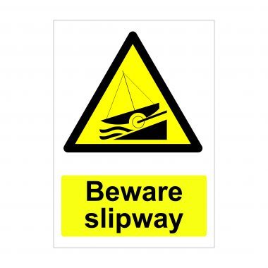 Beware Slipway Sign, Foamex Signs