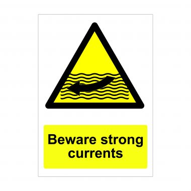 Beware Strong Currents Sign, Dibond Signs, Correx Boards