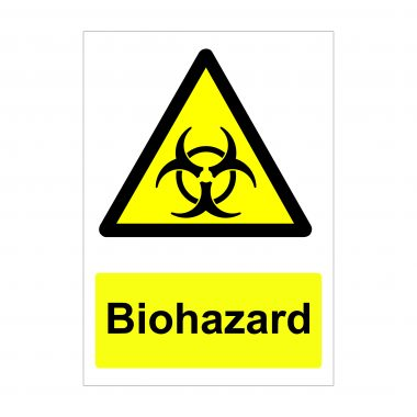 Biohazard Sign, Correx Printed Boards, Foamex Signs