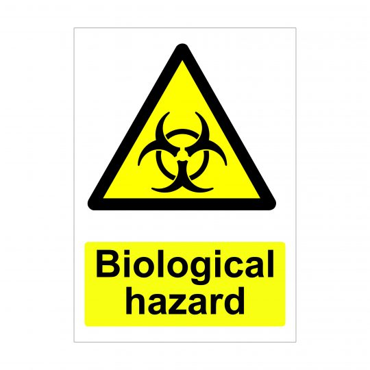 Biological Hazard Sign, Dibond Sign, Vinyl Stickers