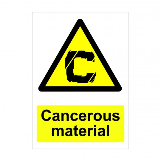 Cancerous Material Sign, Foamex Signage, Vinyl Stickers