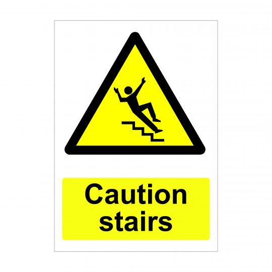 Caution Stairs Sign, Printed Correx Boards, Dibond Printing