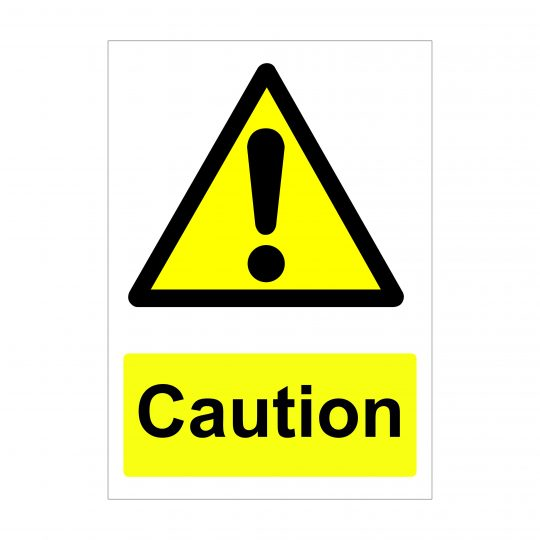 Caution Sign, Printed Vinyl Stickers, Foamex Signs