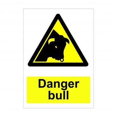 Danger Bull Sign, Correx Signage, Printed Stickers