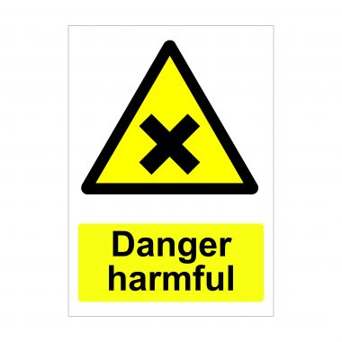 Danger Harmful Sign, Printed Correx Boards, Printed Dibond