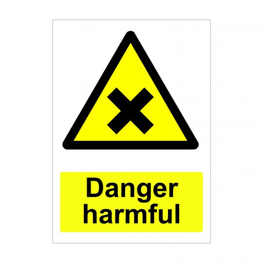 Danger Harmful Sign, Printed Correx Boards, Printed Dibond