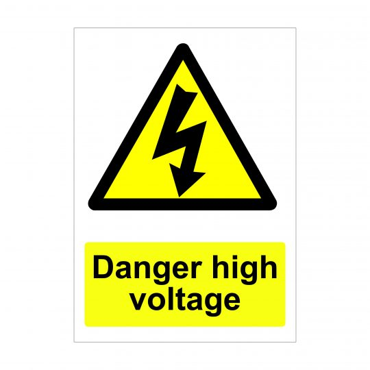 Danger High Voltage Sign, Printed Correx Boards, Foamex Signs