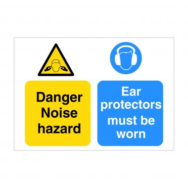 Danger Noise Hazard Sign, Printed Correx Boards, Dibond Printing