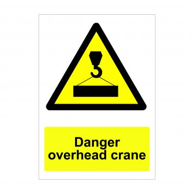 Danger Overhead Crane Sign, Health and Safety Signs