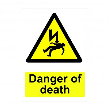 Danger of Death Sign, Correx Printing