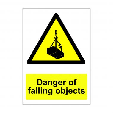 Danger of Falling Objects Sign
