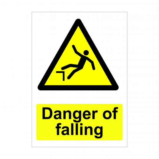 Danger of Falling, Printed Dibond Boards, Health and Safety Signs