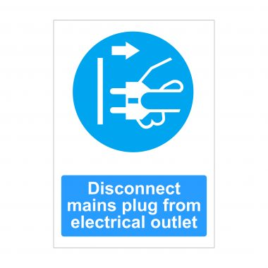 Disconnect Mains Plug From Electrical Outlet