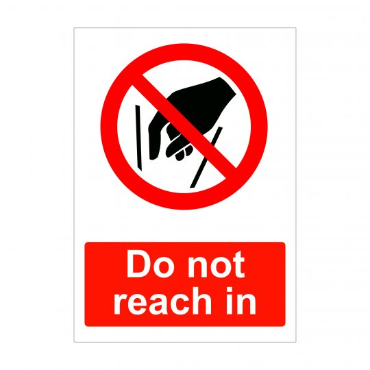 Do Not Reach In Sign, Correx Signs, Health and Safety Stickers